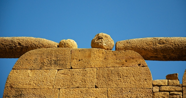 Rock art on the walls of the Jaisalmer fort
