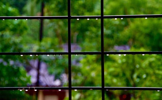 The addition of rain drops