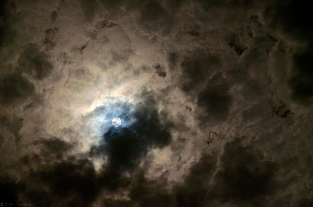 The Moon through a wormhole in the sky